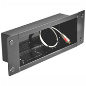 In-Wall Metal Recessed Cable Management & Power Storage Accessory Box, Medium, Black