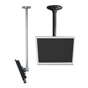 "LCD Ceiling Mount w/ Cable Management, 18"" To 30"" Adjustable Height - Black"