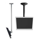 "LCD Ceiling Mount, 18"" To 30"" Adjustable Height - Silver"
