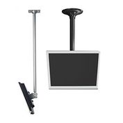 "LCD Ceiling Mount w/ Cable Management, 36"" To 48"" Adjustable Height - Silver"