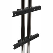 Modular Dual Pole Fixed Display Mount/Wall Mount Interface