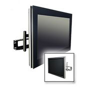 "Universal Articulating Arm Wall Mount For 32""-65"" Screens - Gloss Black"