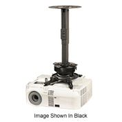 "PRS Universal Projector Ceiling Mount, 8.7""-12.8"" Adjustable Extension - Silver"