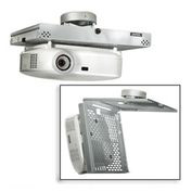 Universal Locking Projector Security Mount w/ Projector Ceiling Mount - White
