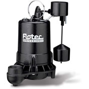 Flotec Professional Series Cast Iron Sewage Pump 3/4 HP, Tethered Switch
