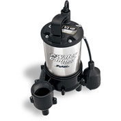 Flotec Water Cannon Series Submersible Stainless Steel / Thermoplastic 1/2 HP Sewage Pump