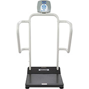 Health O Meter 1100KL Digital Bariatric Scale 1000 x0.2lb/454 x 0.1kg w/ Rails & Wheels