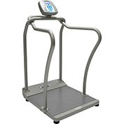 Health O Meter 2101KL Digital Bariatric Scale 1000 x 0.2lb/454 x 0.1kg W/ Wheels, Handrails