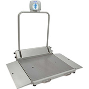 Health O Meter 2610KL Digital Wheelchair Dual Ramp Scale 1000 x 0.2lb/454 x 0.1kg, Portable