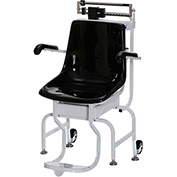 Health O Meter 445KL Chair Scale 440 x 1/4lb/200kg x 100g W/ Flip-Arm, Foot Rests, Wheels