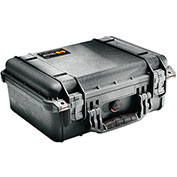 "Pelican 1450 Watertight Medium Case With Foam 14-11/16"" x 13"" x 6-13/16"", Black"