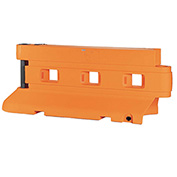 "Rhino Barriers Water Fillable Barrier, 90""L, Orange, RBI-2000-O"