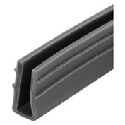 "Prime-Line P 7738 - Glass Glazing Channel, 1/4"", Double Pane, Gray Vinyl, 200'"