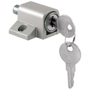 Prime-Line® Sliding Door Keyed Lock, Push-In, Aluminum Finish, U 9861