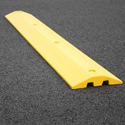 "Yellow Speed Bump with Cable Protection & Hardware - 48"" Long"