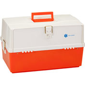 "Plano Medical Trauma Box 747004 - Extra Large w/ 3 Trays 20-13/16""W x 11-1/2""D x 12-3/4""H, Orange"