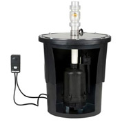 "Little Giant 507713 TSW-B Series Electronic Submersible Sump Pump Kit for 30""D Basin"