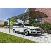 "Vitoria™ HG9130 Carport - 16'L x 10""W Gray/Bronze"