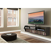 "Prepac Manufacturing Black Altus Plus 58"" Floating TV Stand"