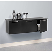 Prepac Manufacturing Black Coal Harbor Wall Mounted Buffet