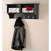 "Prepac Manufacturing Black 36"" Wide Hanging Entryway Shelf"