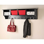"Prepac Manufacturing Black 60"" Wide Hanging Entryway Shelf"
