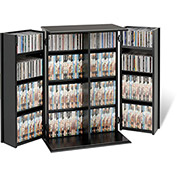 Prepac Manufacturing Black Locking Media Storage Cabinet With Shaker Doors