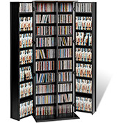 Prepac Manufacturing Black Grande Locking Media Storage Cabinet With Shaker Doors