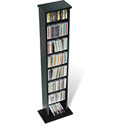 Prepac Manufacturing Black Slim Multimedia Storage Tower