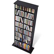 Prepac Manufacturing Black Double Multimedia Storage Tower