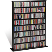 Prepac Manufacturing Black Double Width Wall Storage