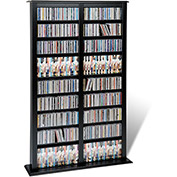 Prepac Manufacturing Black Double Width Barrister Tower