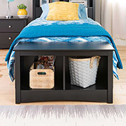 Prepac Manufacturing Black Twin Cubbie Bench