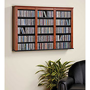 Prepac Manufacturing Cherry & Black Triple Wall Mounted Storage