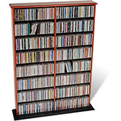 Prepac Manufacturing Cherry & Black Double Width Wall Storage