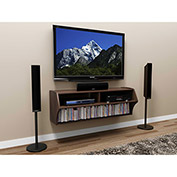 Prepac Manufacturing Espresso Altus Wall Mounted Audio/Video Console