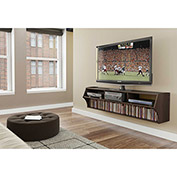 "Prepac Manufacturing Espresso Altus Plus 58"" Floating TV Stand"