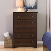 Prepac Manufacturing Espresso Fremont 5 Drawer Chest