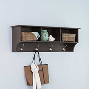 Prepac Manufacturing Espresso Entryway Shelf