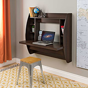 Prepac Manufacturing Floating Desk with Storage Espresso