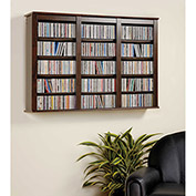 Prepac Manufacturing Espresso Triple Wall Mounted Storage