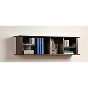 Prepac Manufacturing Espresso Wall Mounted Desk Hutch