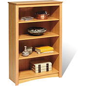 Prepac Manufacturing Maple 4-Shelf Bookcase