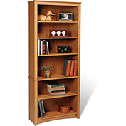 Prepac Manufacturing Oak 6-Shelf Bookcase