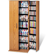 Prepac Manufacturing Oak & Black Grande Locking Media Storage Cabinet