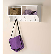 "Prepac Manufacturing White 36"" Wide Hanging Entryway Shelf"