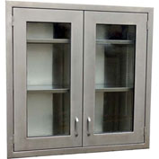 "IMC OC48-30HG Stainless Steel Wall Cabinet 30"" x 48"" x 13""D"