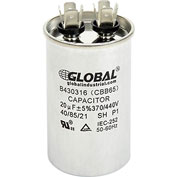 Dual Voltage 370/440 - Round Run Capacitor - 20 Mfd