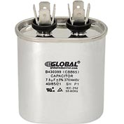 Dual Voltage 370/440 - Oval Run Capacitor - 7.5 Mfd