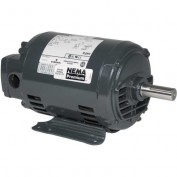 US Motors, ODP, 5 HP, 3-Phase, 3515 RPM Motor, D5P1H